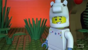 GLUE-VFX-3D-animation-LEGO-Shakespeare-donkey-scene-promotional-video
