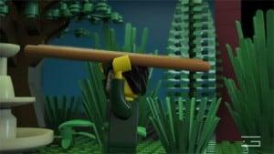 GLUE-VFX-3D-animation-LEGO-Shakespeare-romeo-carrying-ladder-scene-promotional-video