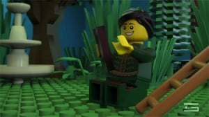 GLUE-VFX-3D-animation-LEGO-Shakespeare-romeo-on-mobile-smart-phone-scene-promotional-video