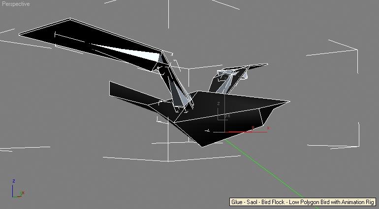 Glue - Saol - Bird Flock - Low Polygon Bird with Animation Rig
