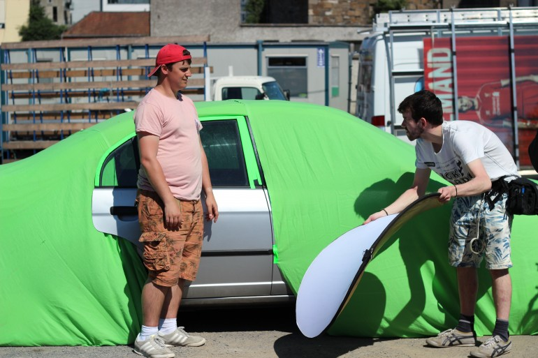 Greenscreen Car