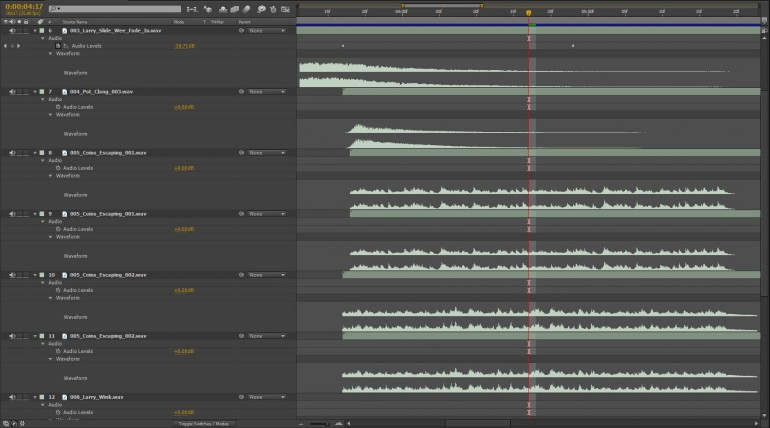 Music and Sound Effects Waveform